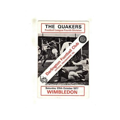 Wimbledon Away Football Programmes