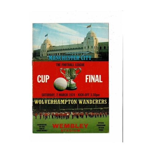 League Cup Final Football Programmes