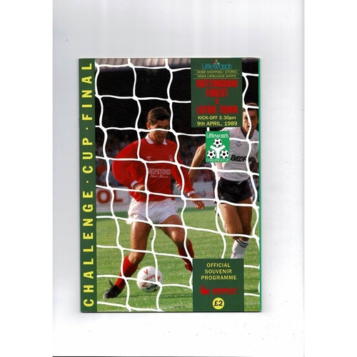 League Cup Final Football Programmes