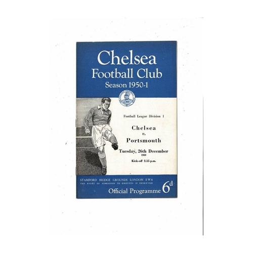 1950/51 Chelsea v Portsmouth Football Programme