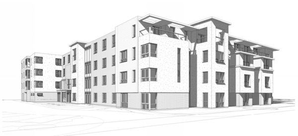 Our architectural Interior design begins for Welwyn Garden City care complex
