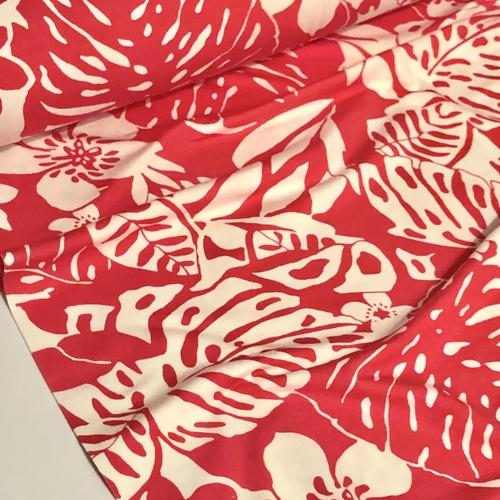 Malibu Red Viscose Jersey