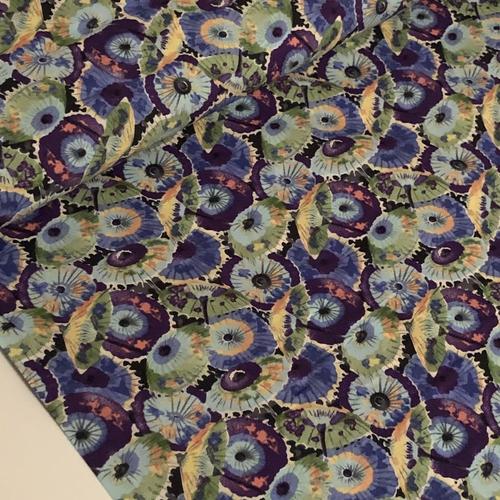 Parasols Blue Pima Cotton Lawn