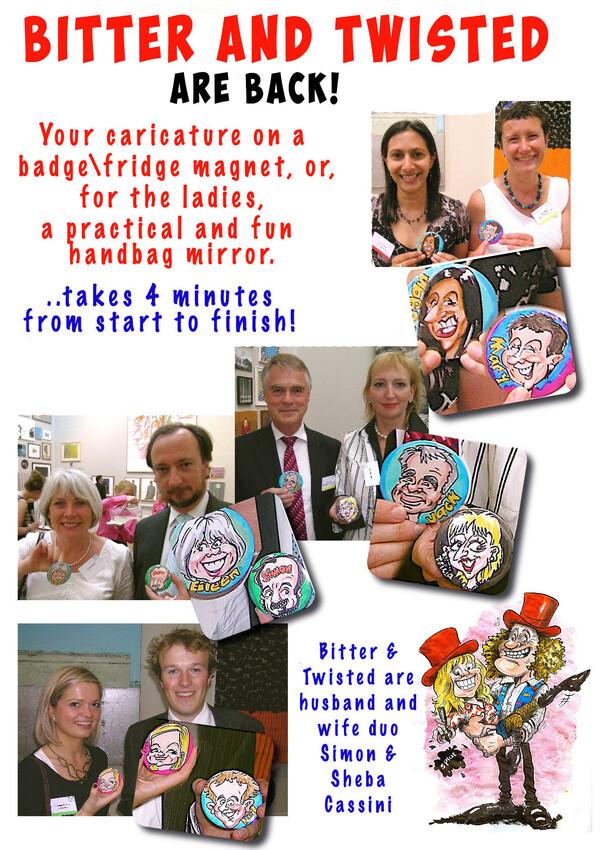 Caricature Badges