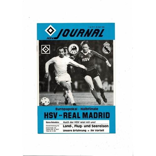 1979/80 Hamburg v Real Madrid European Cup Semi Final Football Programme