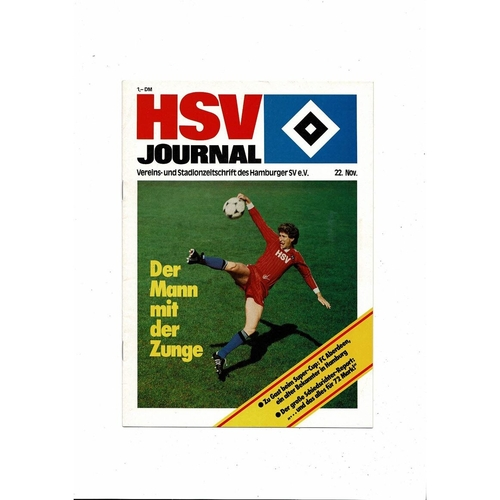 1983 Hamburg v Aberdeen European Super Cup Final Football Programme