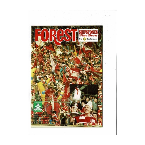1989/90 Nottingham Forest v Coventry City League Cup Semi Final Football Programme