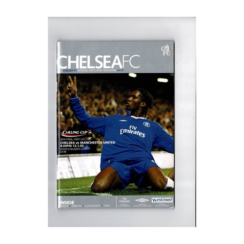 2004/05 Chelsea v Manchester United League Cup Semi Final Football Programme