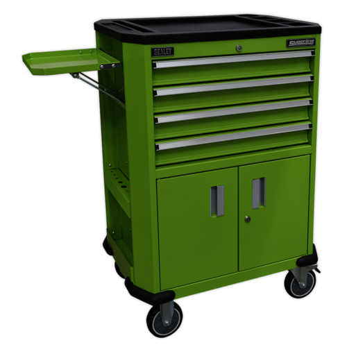 Tool Trolley with 4 Drawers & 2 Door Cupboard - Sealey - AP980MTHV