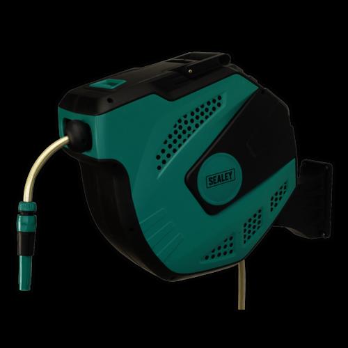 Auto Rewind Control Garden Hose Reel 30m - Sealey - RWH30