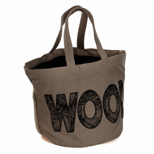Bucket Bag: 'Wool' Logo