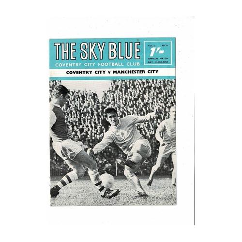 1968/69 Coventry City v Manchester City Football Programme