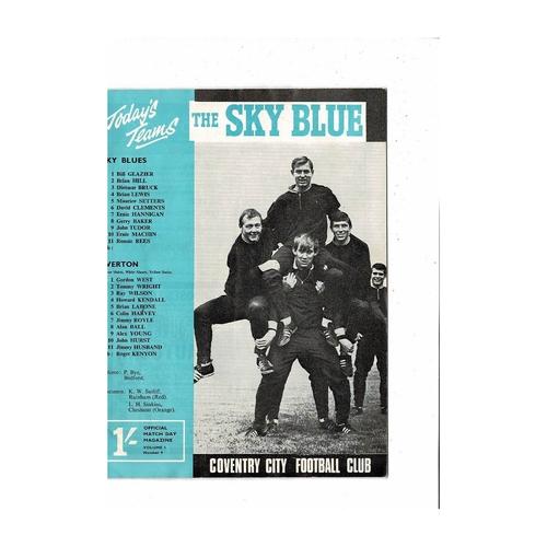 1967/68 Coventry City v Everton Football Programme