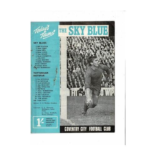 1967/68 Coventry City v Tottenham Hotspur Football Programme