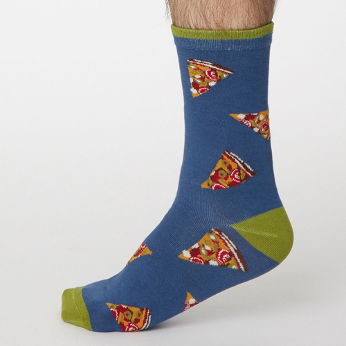 Thought Bamboo Socks Pizza