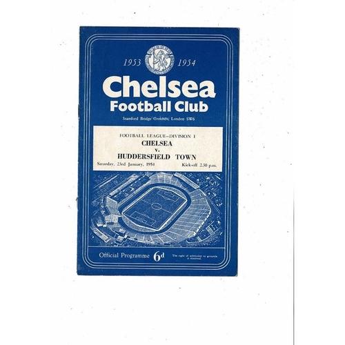 1953/54 Chelsea v Huddersfield Town Football Programme