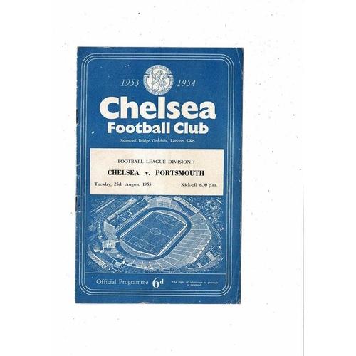 1953/54 Chelsea v Portsmouth Football Programme