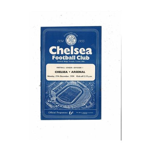 1954/55 Chelsea v Arsenal Championship Season Football Programme