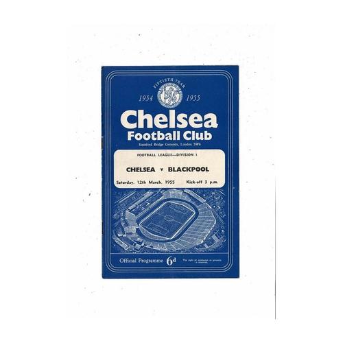 1954/55 Chelsea v Blackpool Championship Season Football Programme