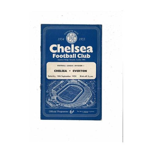 1954/55 Chelsea v Everton Championship Season Football Programme