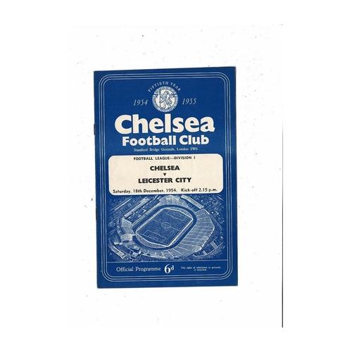1954/55 Chelsea v Leicester City Championship Season Football Programme