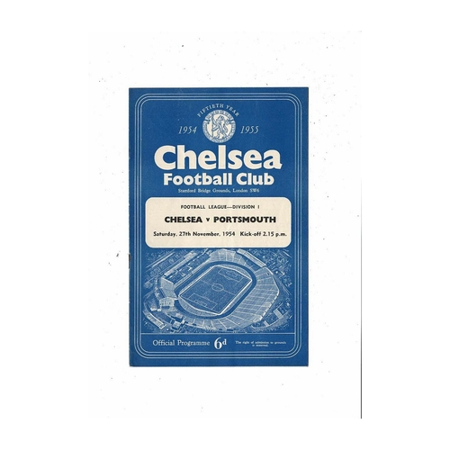 1954/55 Chelsea v Portsmouth Championship Season Football Programme