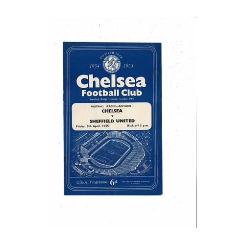 1954/55 Chelsea v Sheffield United Championship Season Football Programme
