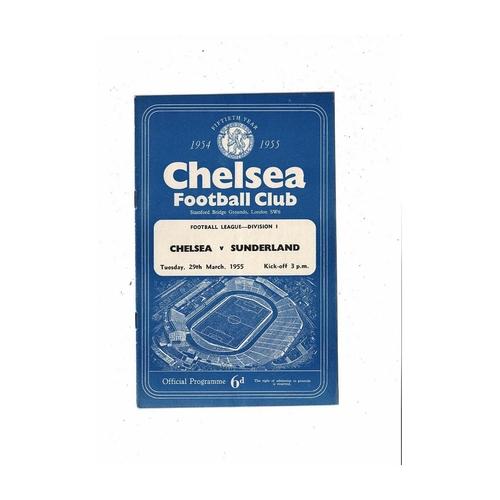 1954/55 Chelsea v Sunderland Championship Season Football Programme