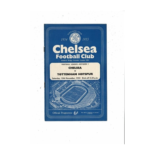 1954/55 Chelsea v Tottenham Hotspur Championship Season Football Programme