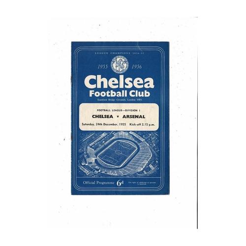 1955/56 Chelsea v Arsenal Football Programme