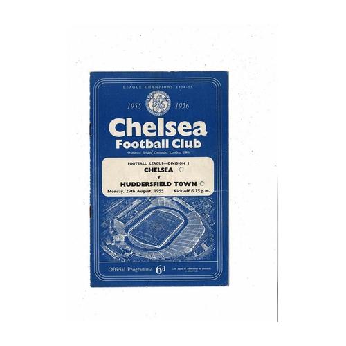 1955/56 Chelsea v Huddersfield Town Football Programme