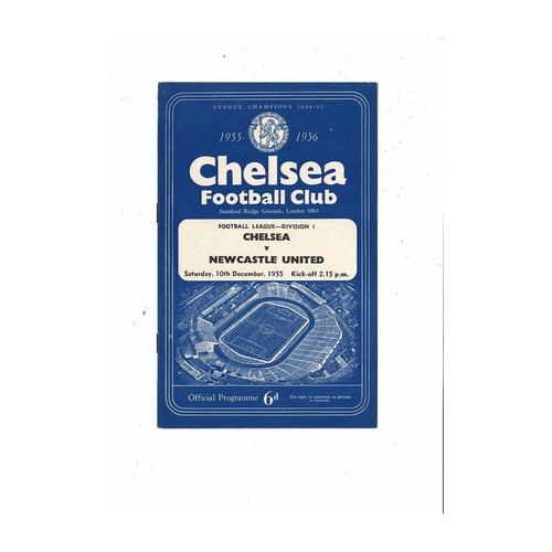 1955/56 Chelsea v Newcastle United Football Programme
