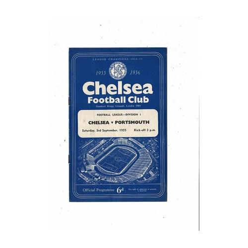 1955/56 Chelsea v Portsmouth Football Programme