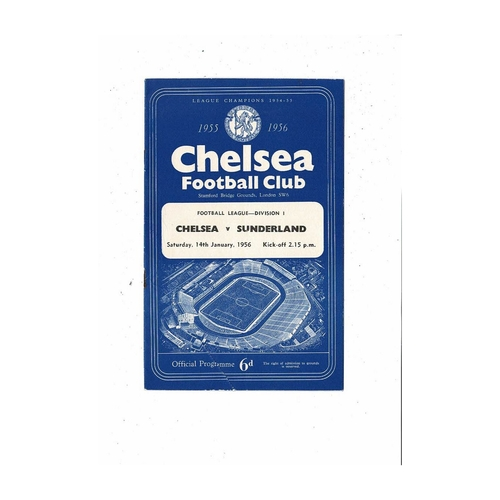 1955/56 Chelsea v Sunderland Football Programme