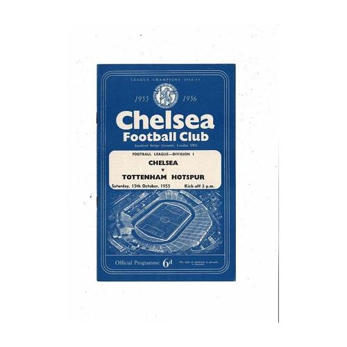 1955/56 Chelsea v Tottenham Hotspur Football Programme