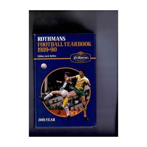 Rothmans Football Yearbook 1989/90 Hardback