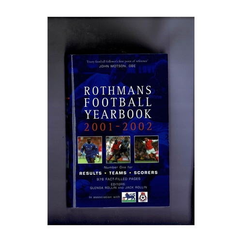 Rothmans Football Yearbook 2001/02 Hardback