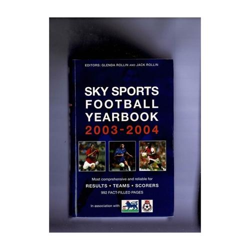 Sky Sports Rothmans Football Yearbook 2003/04 Hardback