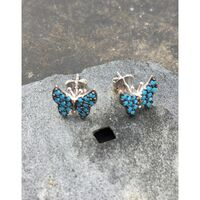 Blue Lily Nano Turquoise Butterfly Stud