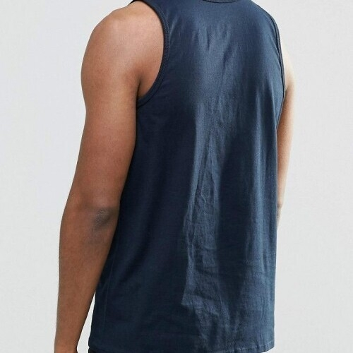 NIKE Athletic swoosh Tank Top/Vest Mens -  Navy