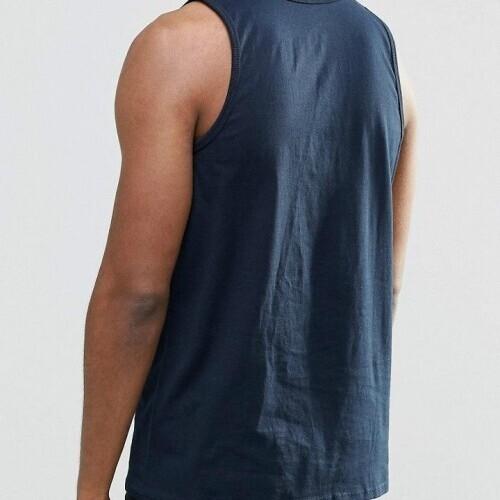 NIKE Athletic swoosh Tank Top/Vest Mens -  Navy