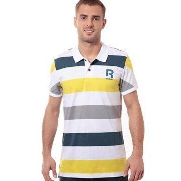 Reebok 'Stripe' Polo Shirt Mens