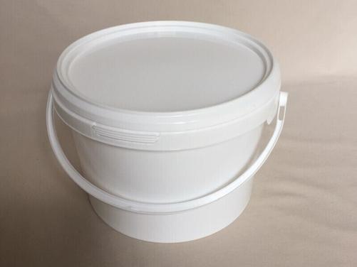 3L White Round Bucket