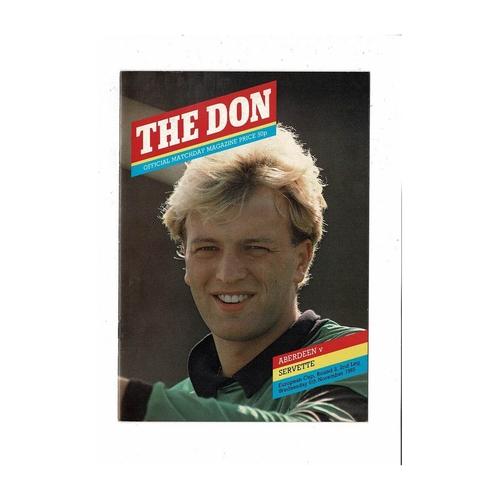 Aberdeen v Servette European Cup Football Programme 1985/86