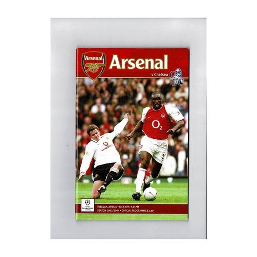 Arsenal v Chelsea League Champions League Football Programme 2003/04