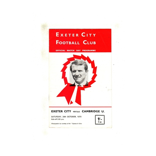 Exeter City Home Football Programmes