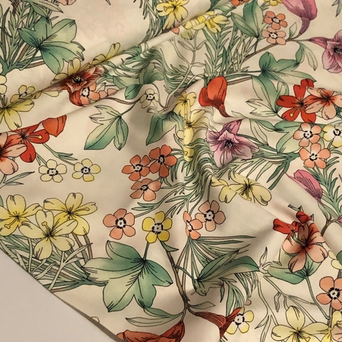 Flower Show Cotton Poplin 1.08m Remnant