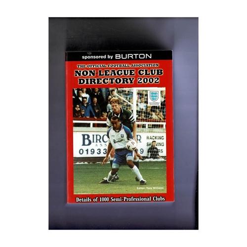 Non League Directory 2002 Softback Book