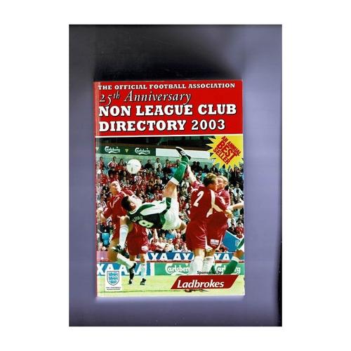Non League Directory 2003 Softback Book