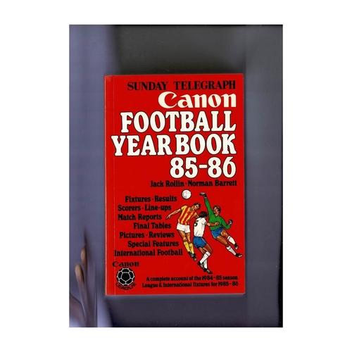 Sunday Telegraph Football Yearbook 1985/86 Softback